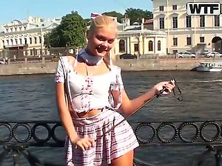 Blonde beauty Ivanka is a shameless school girl. Great school girl fantasy as Ivanska goes into t...