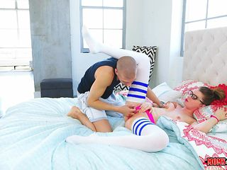 the mom is making sure her daughter has the best orgasm possible