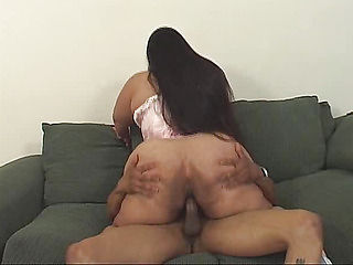 Both hands on the ass aunt fucks her pussy