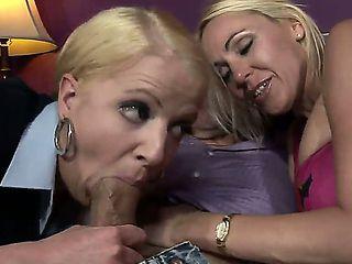 Anita Blue is one horny MILF. Watch this blonde cougar teach her daughter Raquel Sieb the art of ...