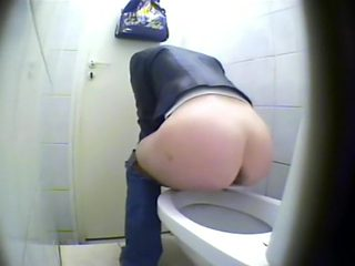 Spread ass spied during her urination