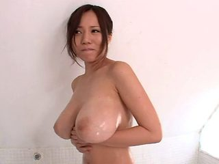Hot Japanese slag with big melons enjoys riding on big shafts