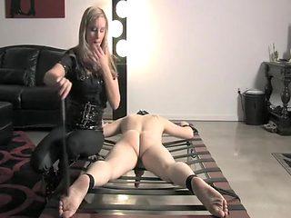 Crazy homemade Femdom, Spanking sex clip