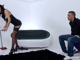 sexy maid in stockings gets hardcore punishment