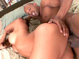 Horny pornstar in incredible squirting, interracial sex scene