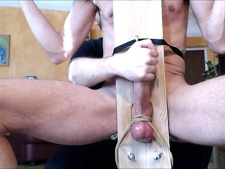 Me milk Powerman666 big cock in milking chair