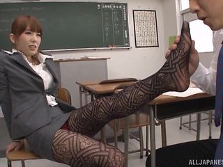 slutty asian teacher hatano, seduces horny student