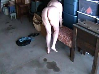 Kim nude playing in storage.