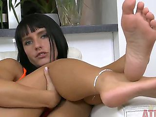 Megan Promesita has feet that are cute enough to eat and she is ready to show anybody that wants ...