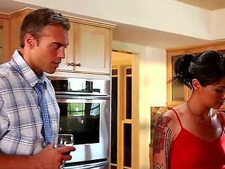 Riley Reid is my daughter and our neighbor always tries to seduce her and fuck her young tight pu...
