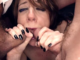 Gaping Samantha loving her anal blasted hardcore doggystyle in mmf