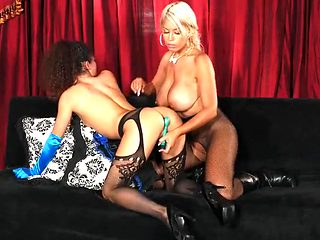 Bridgette B eaten out by a sexy lesbian slut