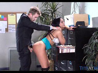 Hot Latina Slut at Work