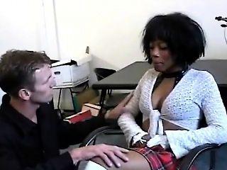 Exploited African Ebony Interracial Fuck Hairy Pussy