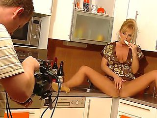 Silvia Saint is filming in solo video. This time she is a wild maid who decided to have some fun ...