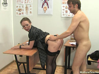 Russian Mature Teacher In Stockings
