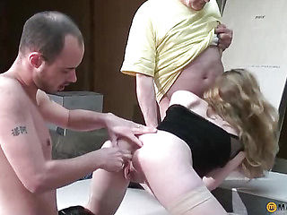 His two hands shoved in her pussy
