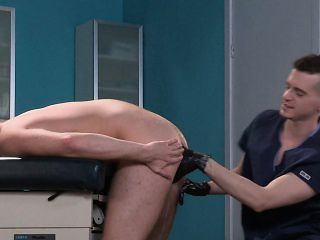 Sexy stallion goes to the doctor to have his butt deeply fisted