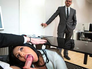 Candi Kayne & Luke Hardy in Take Your Girl To Work Day - Brazzers