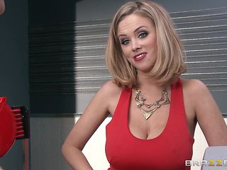 big boobs mom gets oiled and groped