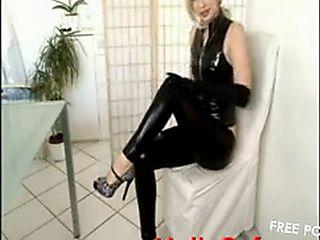 Hot Camgirl Josie In Latex And Fuck In Bad, Amateur Blonde Latex Teen Webcam