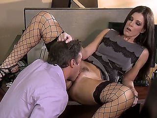 Irresistible milf India Summer is pleasing her colleague in the office and they look more than ho...
