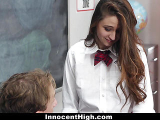 InnocentHigh - Horny Schoolgirl Elektra Rose Learns a Lesson!