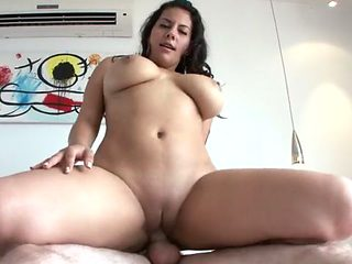 Bubble Butt Big Tits Babe Riding Cock Cowgirl