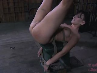 Pretty chick submits and mistress ties her up