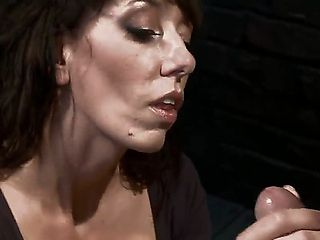 Desperate MILF with giant tits is reduced to an object of desire and torment when she tries to se...