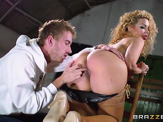 makeup covered slut gets fucked