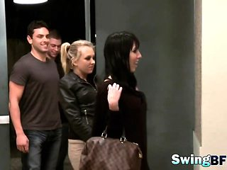 Amateur swingers love role playing in reality show