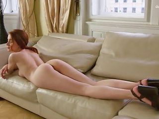 Flawless redhead shows off her hymen