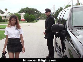 Schoolgirl Fucks Personal Driver