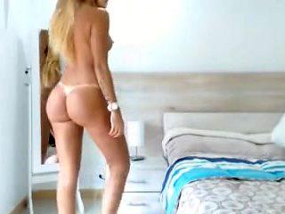 Babe big boobs & ass butt hard nipples shaved tan lines