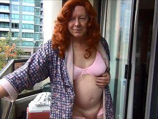 Naughty Gigi redhead in pink