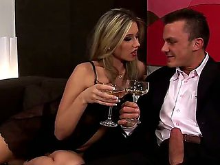 Gorgeous Cherry Jul gets a little bit drunk on the party and demonstrates her director real pleas...