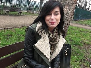 sexy brunette plays hard to get