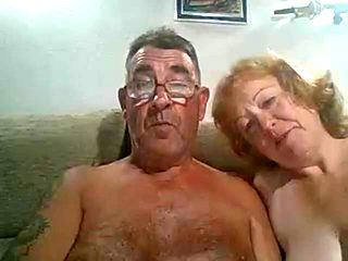 Older man cums on wife