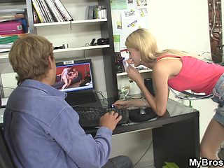 He busts blonde gf cheating with his friend