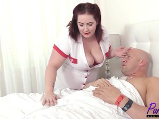nurse Eliza revitalizes the cock