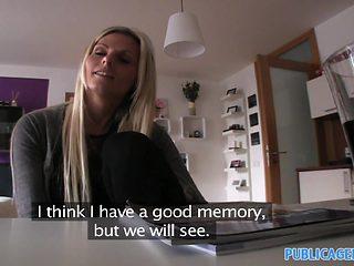 PublicAgent: HD Hot blonde Engilsh tutor fucks her student