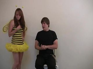 A bee is spanked for skipping school