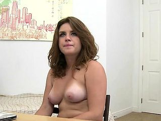 Wild chick has a thrilling casting session with hung stud