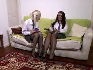 Kelly Fox and Amy Anderson schoolgirl lesbians