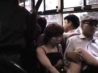 Asian Blowjob and Facial on Public Bus
