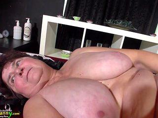 OldNannY Big Granny with natural big tits has sex