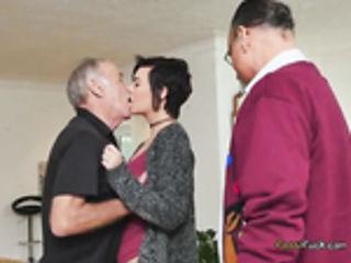 Brunette Babe Sydney Sky Gets Freaky With Old Men