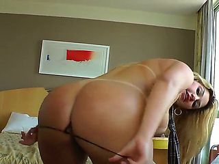 Handsome male Dhones Portella seduces his beautiful busty and round assed girlfriend Patricia Cas...
