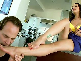 Vicki Chase has a very naughty step father with whom the babe always fucks. Today she gives him p...